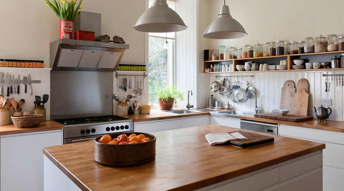 Use modern wooden countertops