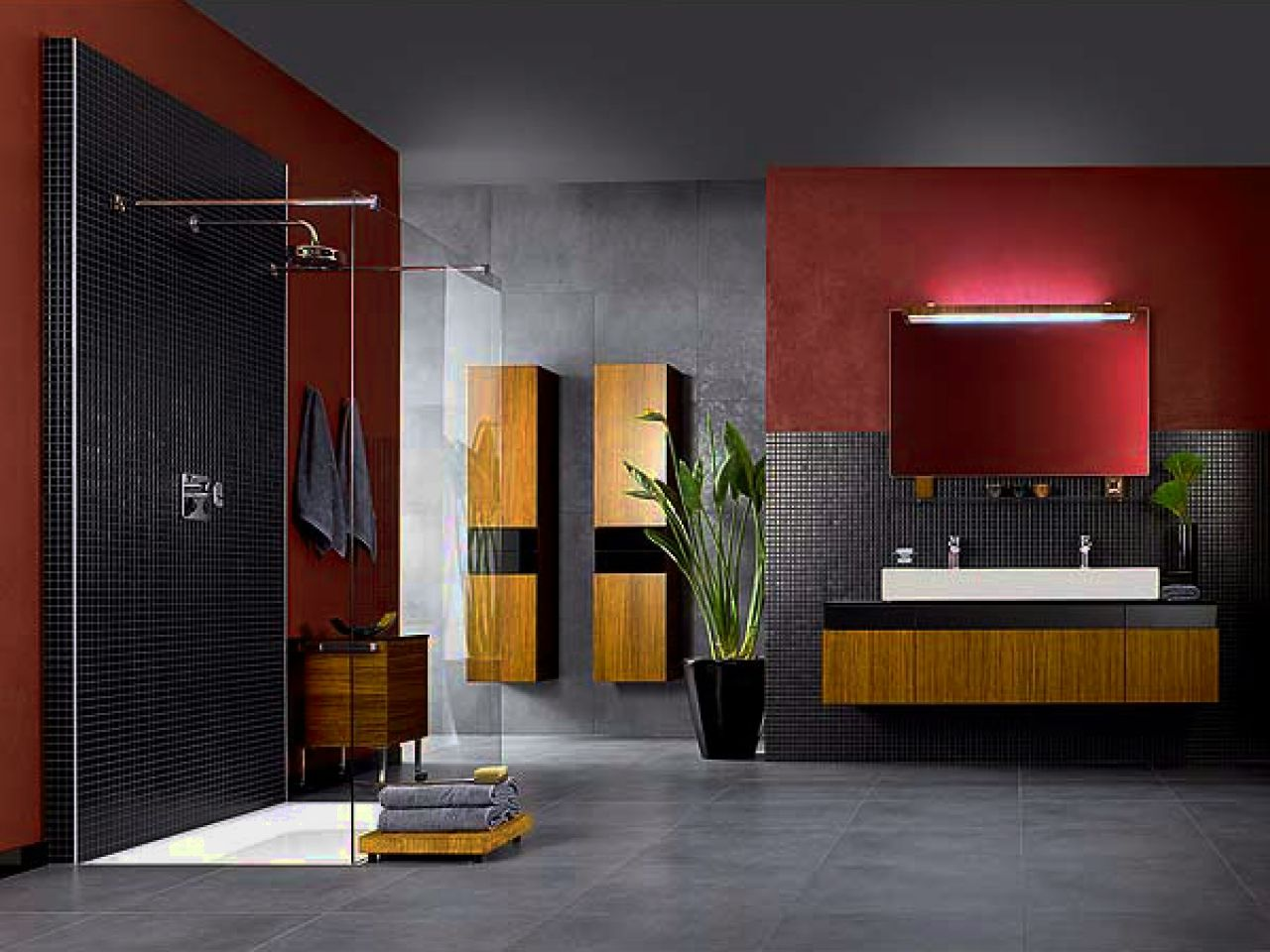 Contemporary bathroom vanity lamps
