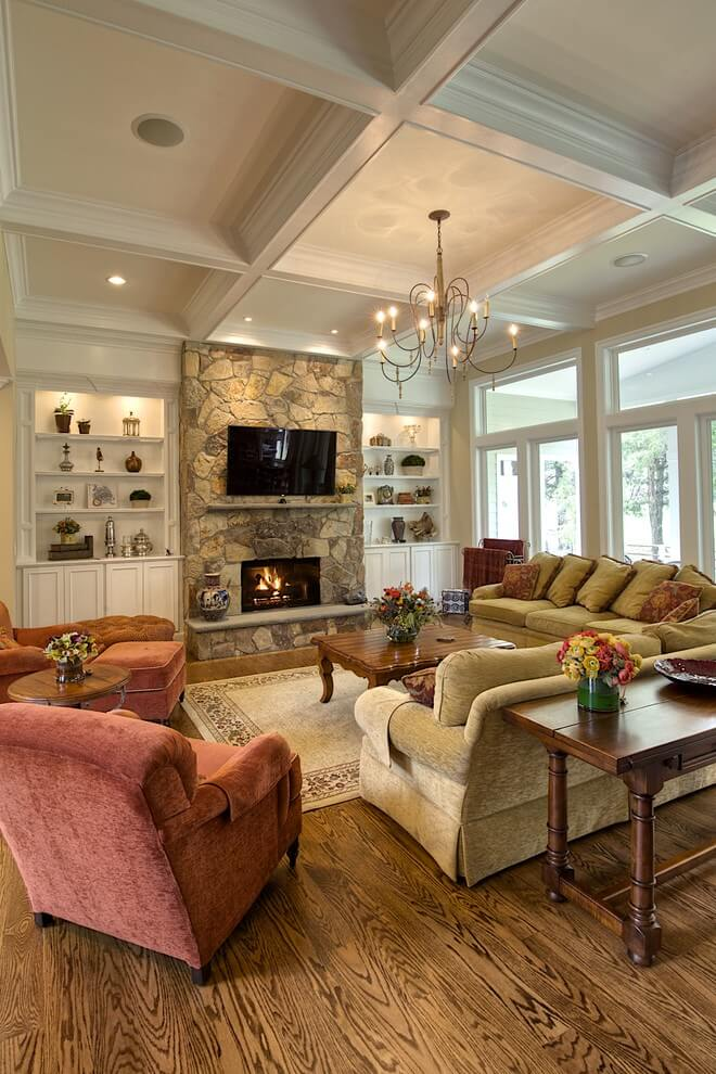 Classic traditional living room design