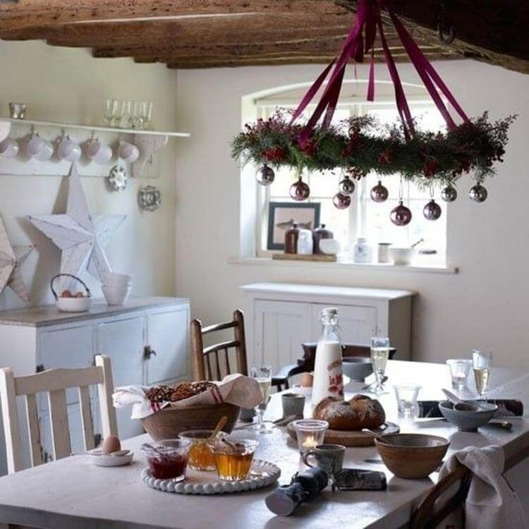 Nordic kitchen decor for Christmas