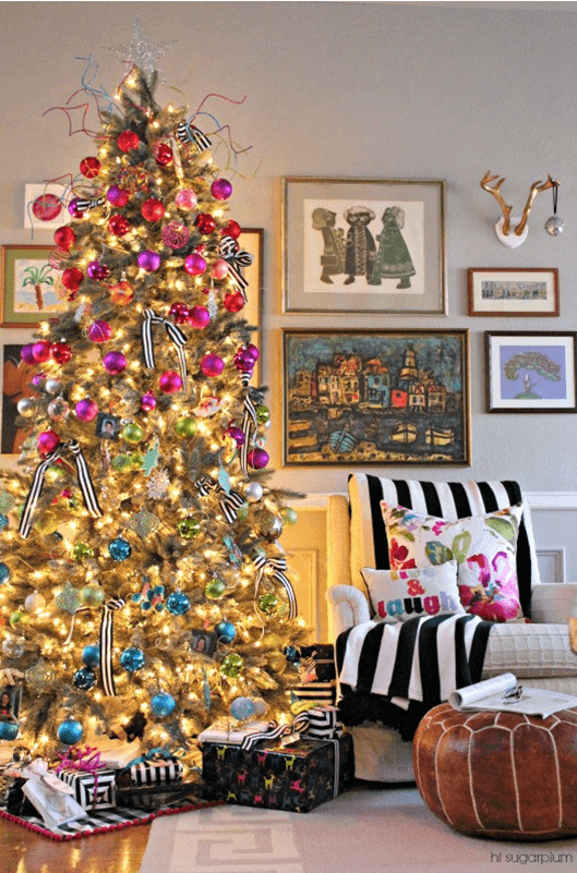Colorful festive everyday decor