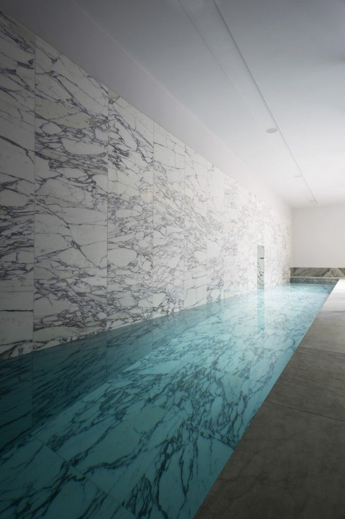 Marble floor and wall luxury pool