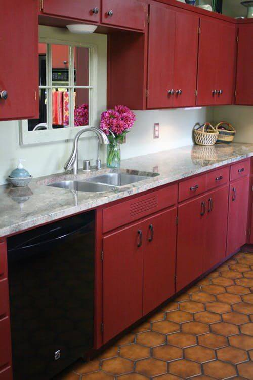 Beautiful red chalk color cabinet