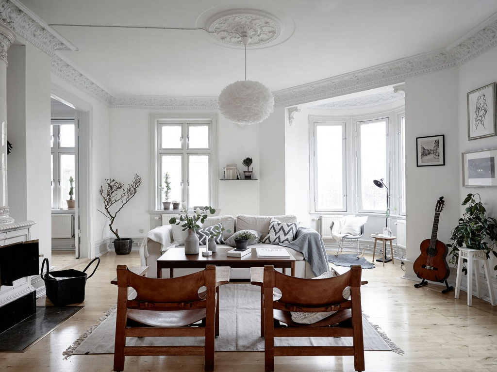 Scandinavian style home interior living room