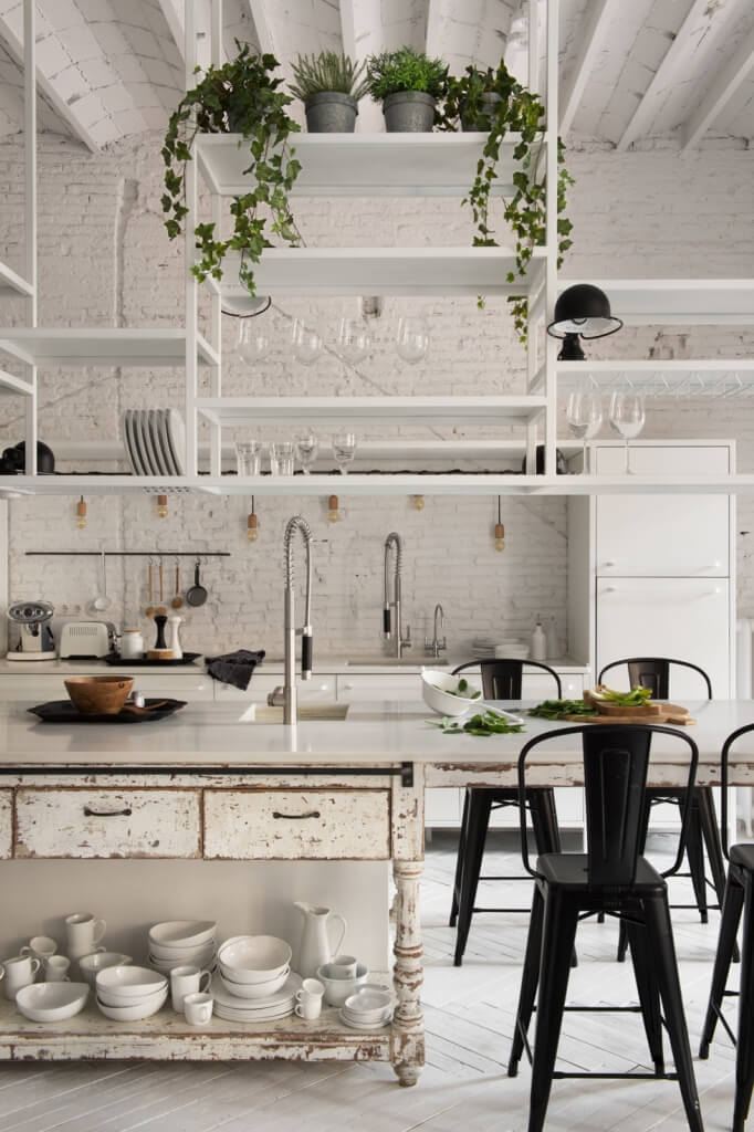 Scandinavian design kitchen table and chairs