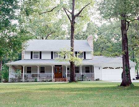 Plan 7300HS: All-American Country Home | Country style house plans .
