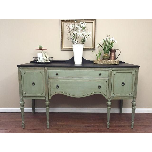 Image of Antique Federal Style Sideboard Buffet | Antique .