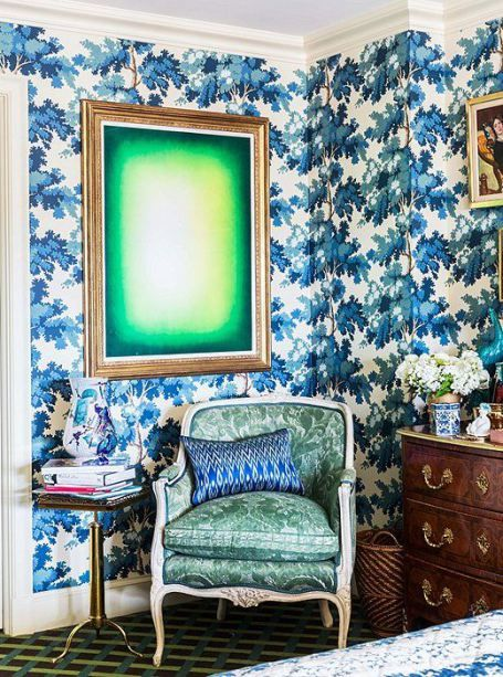 Speak to Me | Nyc decor, Dark blue wallpaper, Beautiful bedroo