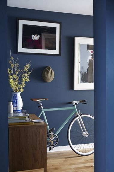 In Full Bloom - Image Magazine | Dark blue hallway, Blue hallway .