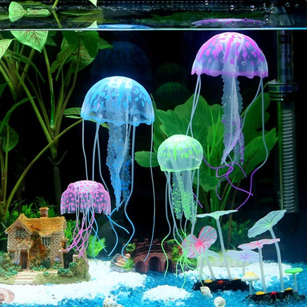 6Pcs Artificial Jellyfish Decor Ornament for Aquarium Fish Tank .