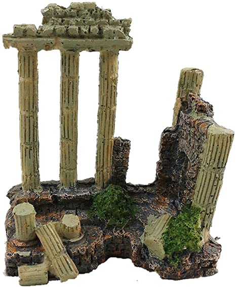 Amazon.com : EHC Resin Solid Vintage Roman Column Aquarium .