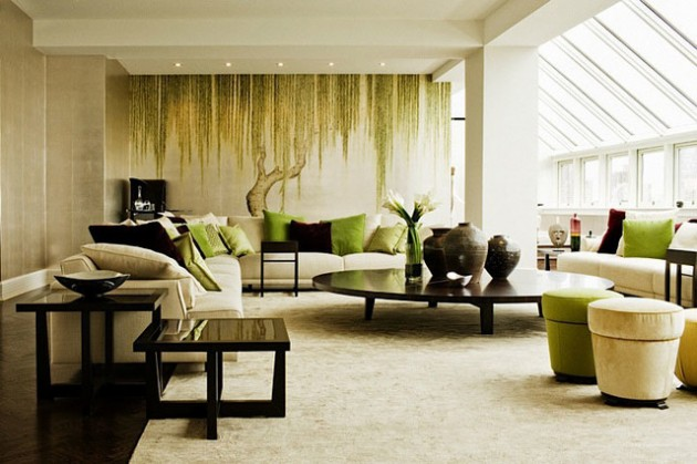 26 Sleek and Comfortable Asian Inspired Living Room Ide