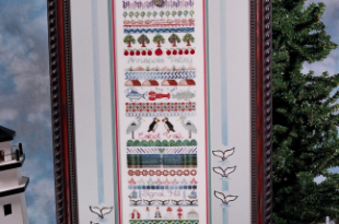 Atlantic Seaboard Sampler from Jeannette Douglas Designs | Stitchle