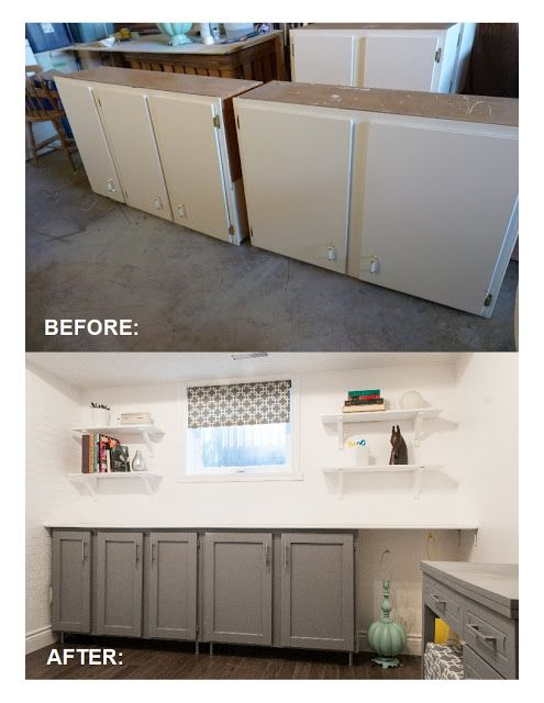 Upcycled Shaker-Panel Cabinet Doors | Cabinet door makeover .