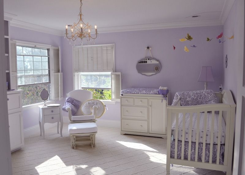 Liesl's Lavender Nursery | Purple baby rooms, Girl room, Purple .