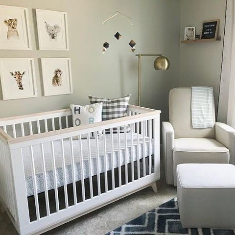 Simple and chic styling win EVERY TIME in the nursery! Photo .