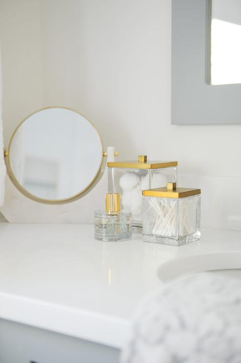 Acrylic and Gold Bathroom Accessories - Transitional - Bathro
