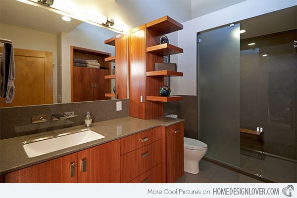 15 Bathroom Shelving Design Ideas | Modern master bathroom, Modern .