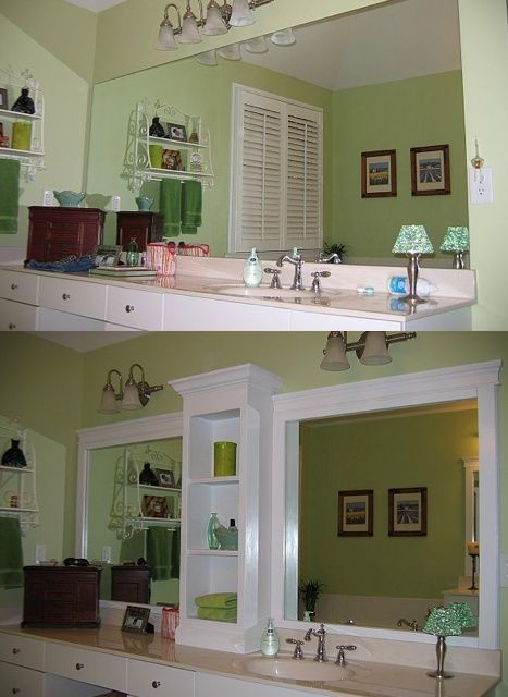 How to Make a Large Bathroom Mirror Look Designer | Large .