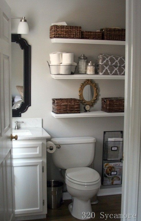 21 Floating Shelves Decorating Ideas | Home, Small bathroom, New hom