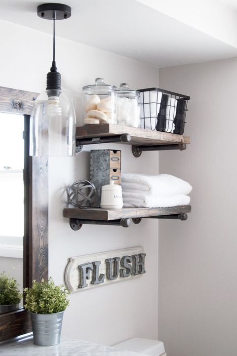 12 Bathroom Shelf Ideas - Best Bathroom Shelving Ide