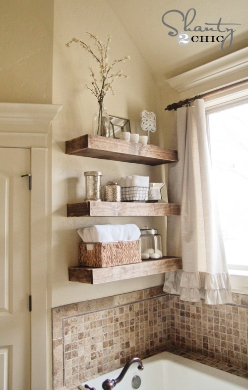 17 DIY Space-Saving Bathroom Shelves And Storage Ideas - Shelterne