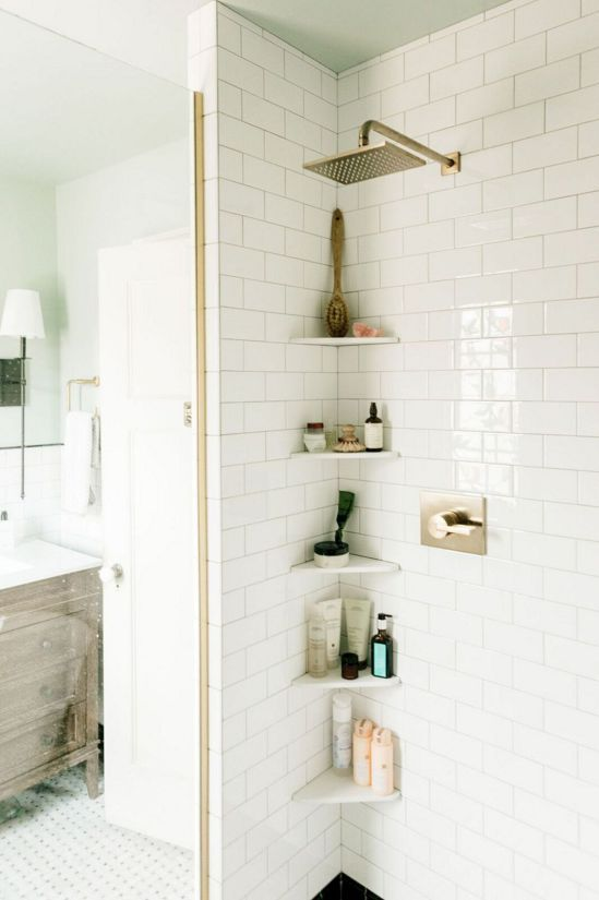 16 Brilliant Corner Furniture Ideas | Small bathroom shelves .