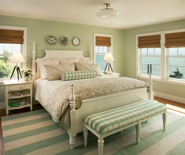 25 Cool Beach Style Bedroom Design Ideas | Sage green bedroom .