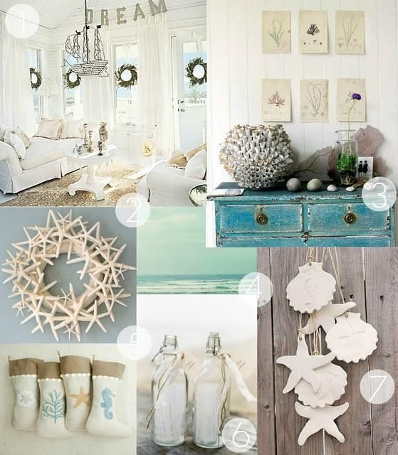A Coastal Christmas | Coastal decorating, Decor, Seaside dec