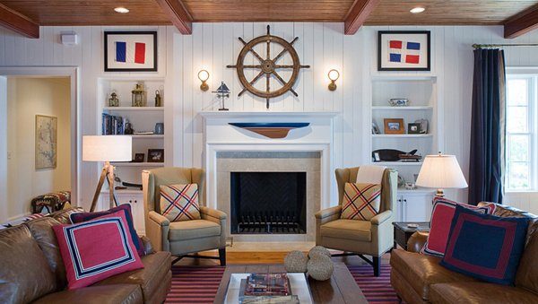 20 Nautical Home Decorations in the Living Room | Home Design Lov
