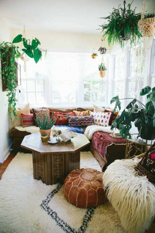 beach style living room with plants | Modern Tropical Style on .