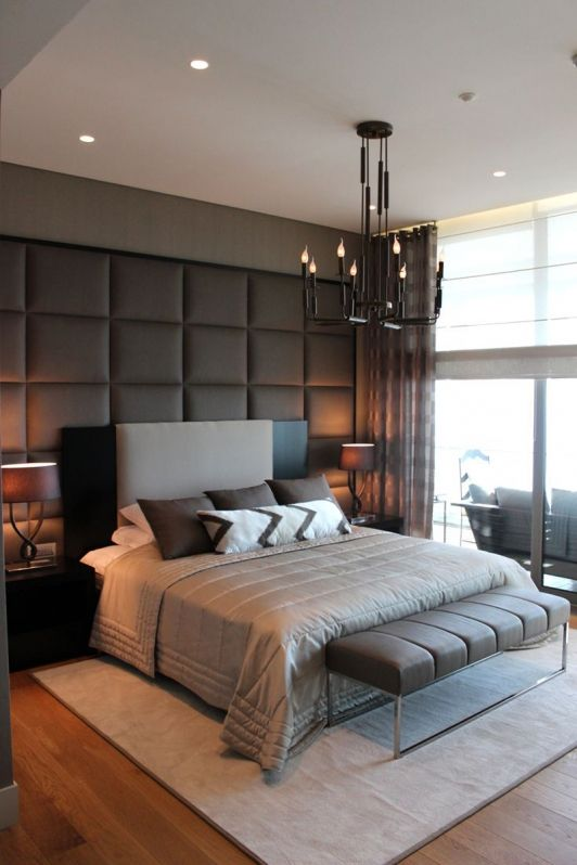 Modern Bedroom with Textured Accent Wall | Remodel bedroom, Modern .