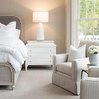 Gray Striped Bedroom Accent Chairs Design Ide