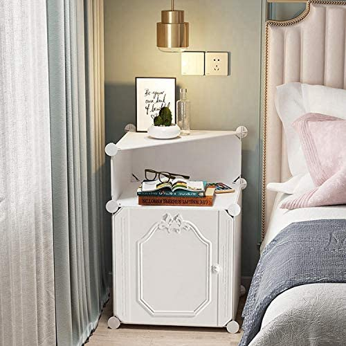 Amazon.com: White Nightstand Night Stand Bedside Table Nightstands .