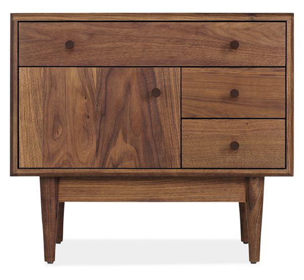 Grove Wood Nightstands - Marlo Bed with Grove Collection - Modern .