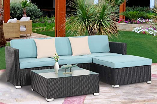 Amazon.com: Oakmont Outdoor Patio 5 Piece Sectional Sofa Set All .