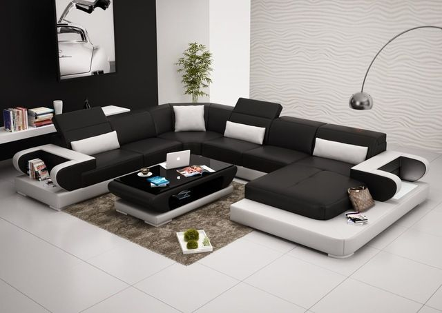 Aspire Leather Sectional, Black, Add Matching Coffee Table .