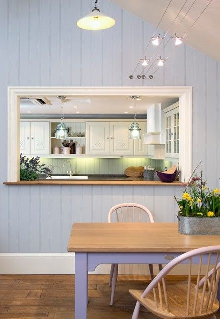 Nothing beats an internal window … | Home, Living room kitchen .
