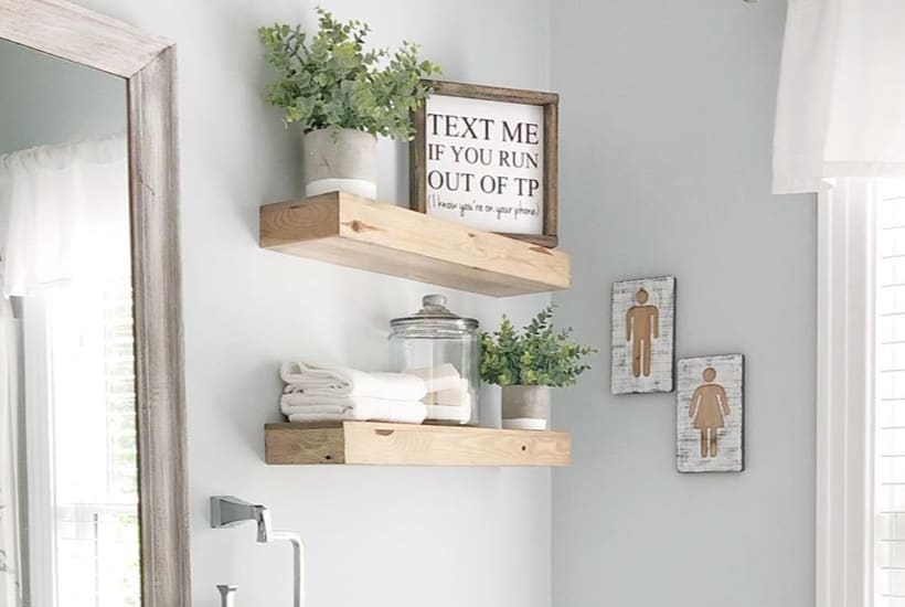 Best DIY Floating Shelf Ideas For 2020 - Crazy Lau