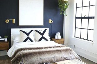 Image result for navy accent wall small bathroom | Bedroom .
