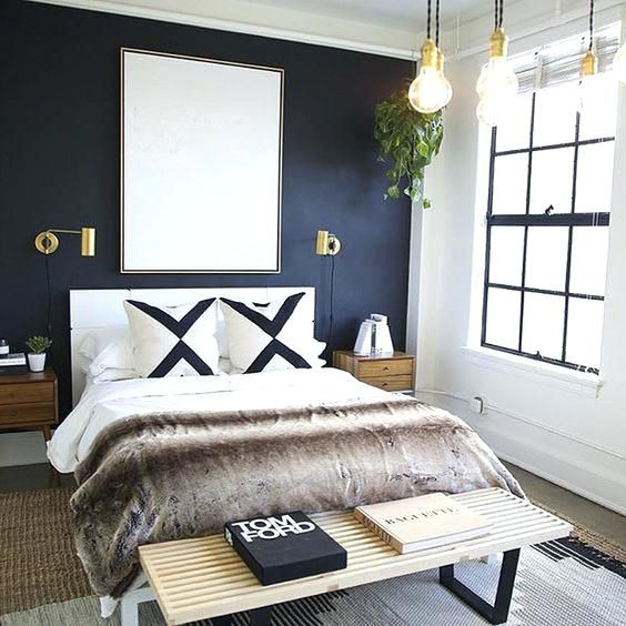 Blue Accent Wall for Bedroom Design Ideas