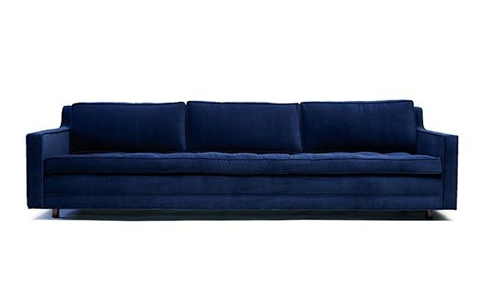 10 Easy Pieces: The Blue Velvet Sofa, Luxe Edition - Remodelis