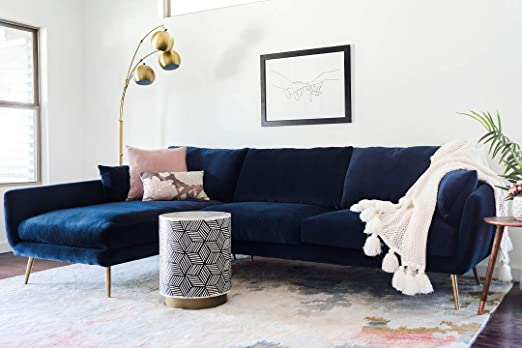 Amazon.com: Edloe Finch Left Facing Chaise Down Feather Cushions .