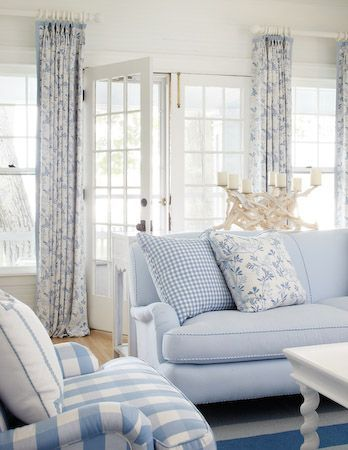 Blue & White Seaside Cottage   Decoration