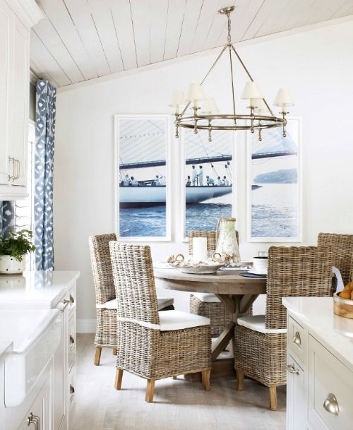 Nautical Living with Navy Blue, White & Natural Textures .