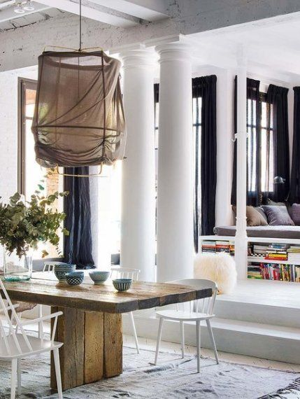 Stunning Bohemian style apartment in Barcelona | Chic living room .