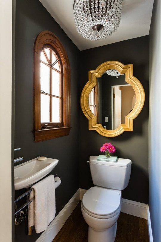 Bold Color in the Powder Room | Tiny powder rooms, Powder room .