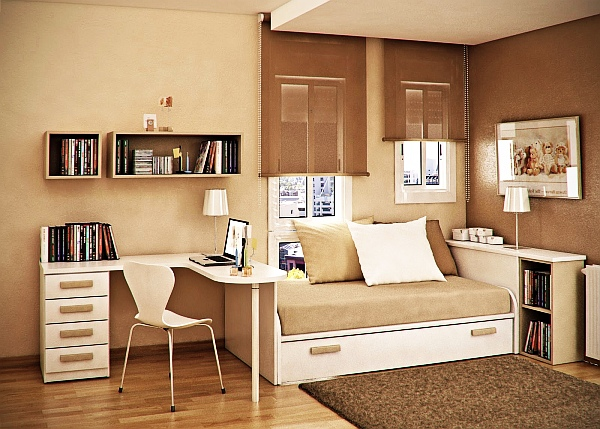Interior & Architecture Designs: White And Taupe Brown .