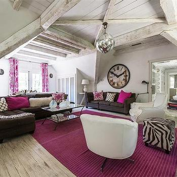 Pink And Brown Living Rooms Design Ide