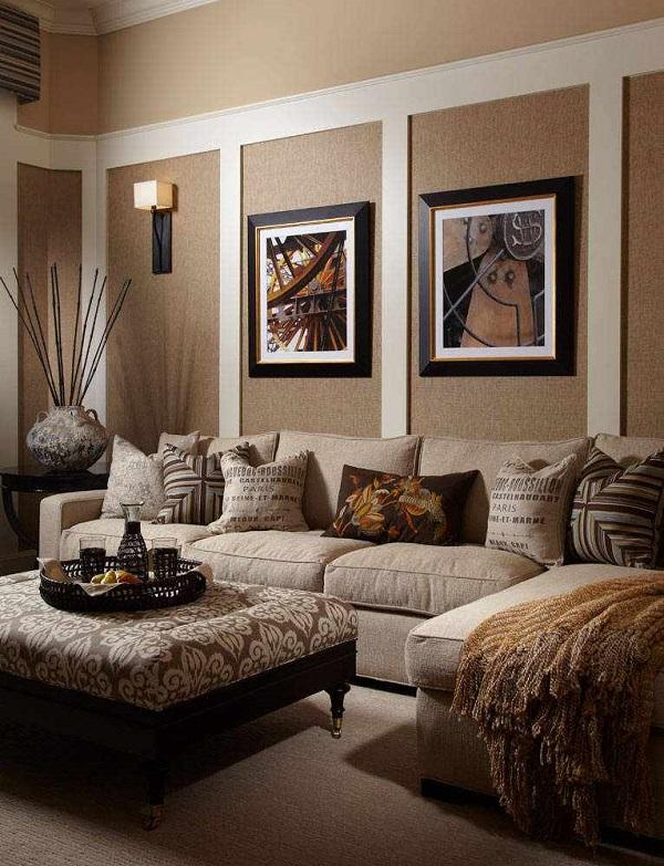 Living room design ideas in brown and beige - 50 fabulous interio